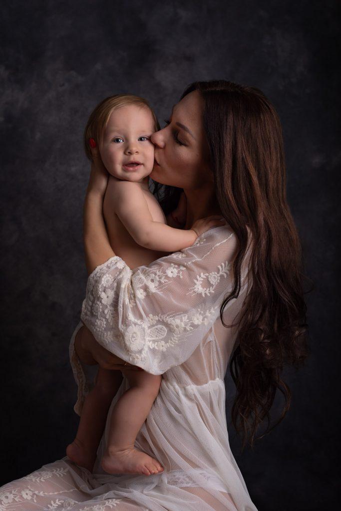 mama a ja, krásny protrét, spoločná fotografia, Rodinné fotenie